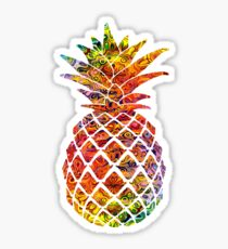 Multicolour Pattern Pineapple Sticker