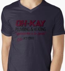 Oh-Kay Plumbing Mens V-Neck T-Shirt
