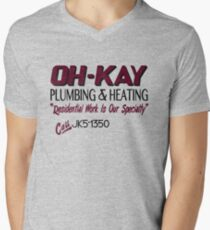 Oh-Kay Plumbing Men's V-Neck T-Shirt