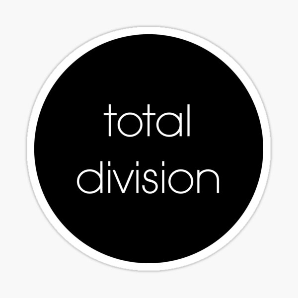 total division Sticker