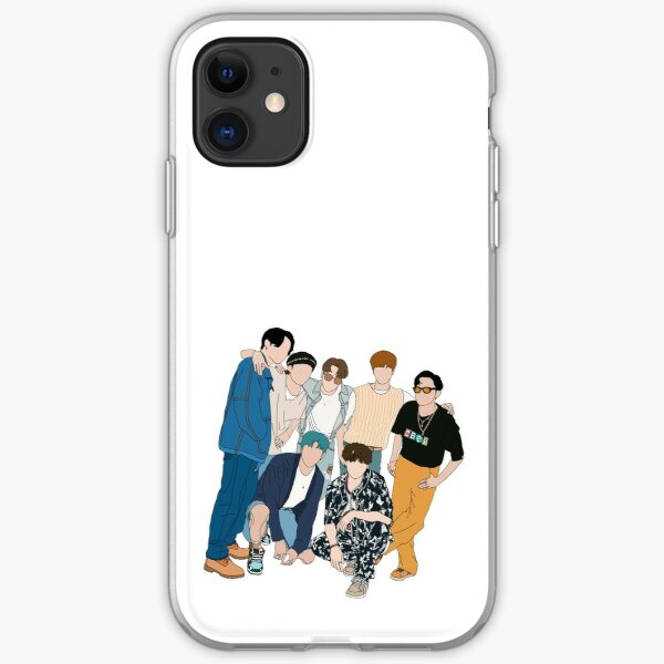BTS Dynamite mv group picture iPhone Soft Case