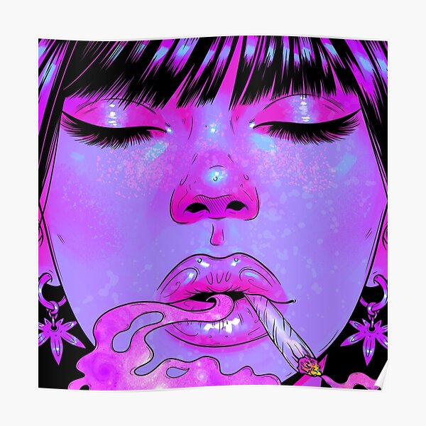 Girl Getting High Poster