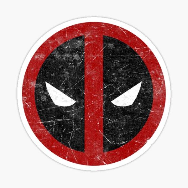 Regalo de día Hombres Mujeres Máscara de Deadpool Clásico apenado Pegatina