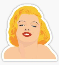 marylin monroe in color Sticker