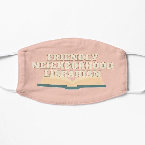 bibliotecario amigable del vecindario Mascarilla plana