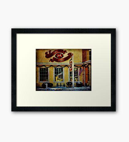 Canal Towne Emporium Framed Print