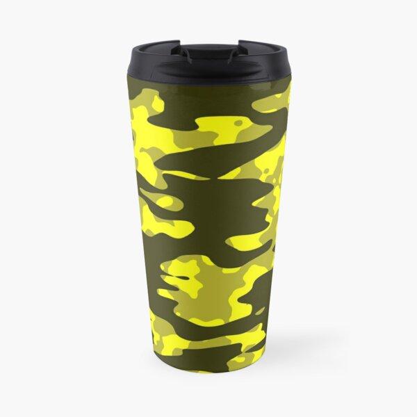 Yellow & Black Camouflage Travel Mug