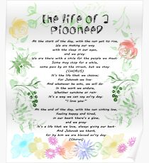 """the life of a pioneer"""" sing 140 Poster"""