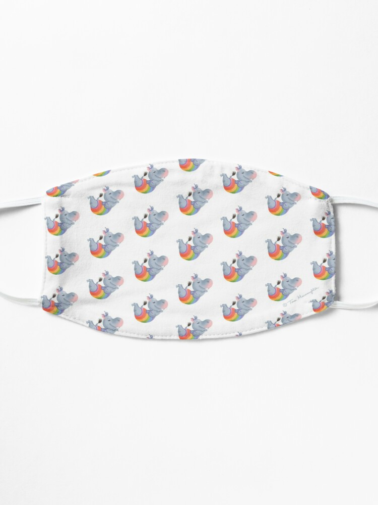 Alternate view of Diving Rainbow Hippo Happiness Mask