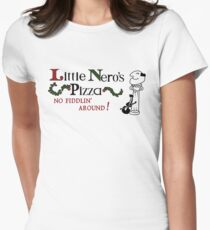 Little Nero's Pizza Womens Fitted T-Shirt