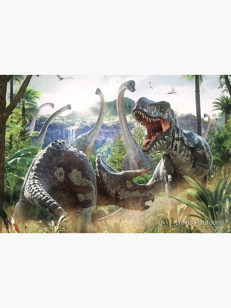 Dinosaur Battle by DavidPenfound