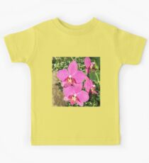 Pink Orchid Collage Kids Tee