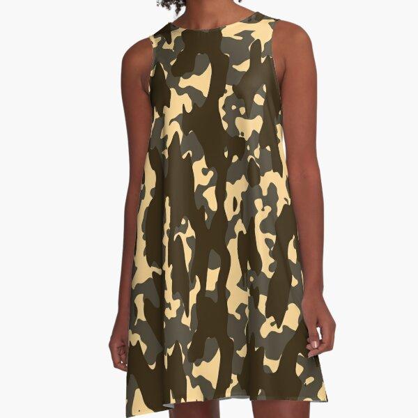Camo A-Line Dress