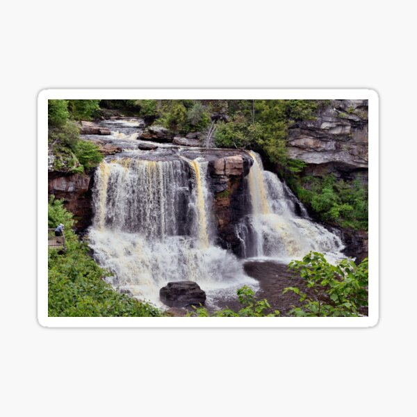 The River Steadily Plunges - Cascading Down From Heaven Sticker
