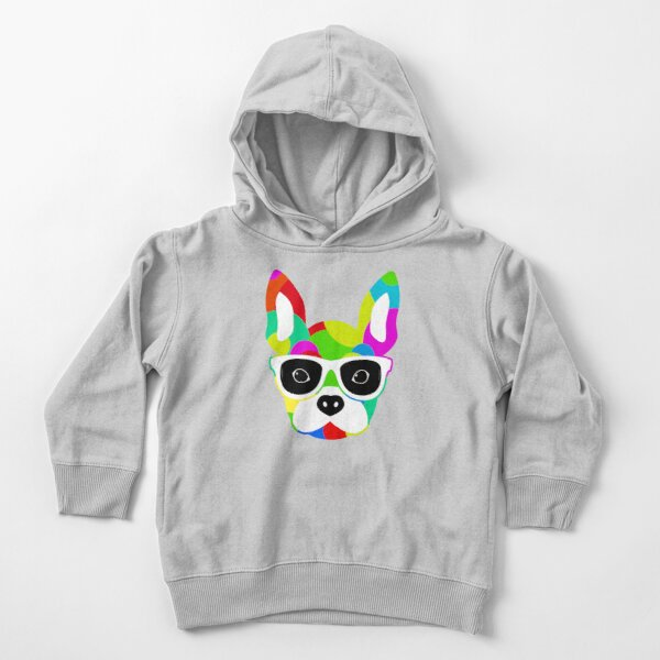 Bulldog color collage Toddler Pullover Hoodie