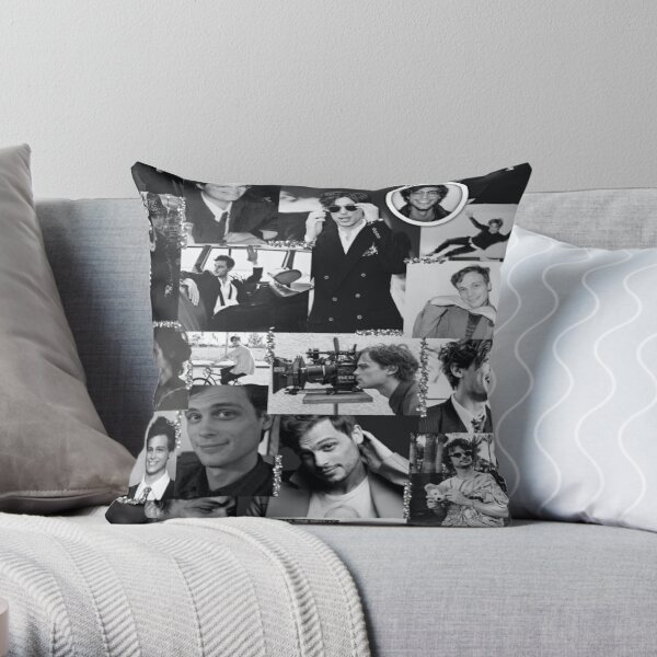 Matthew Gray Gubler Collage s / w Dekokissen