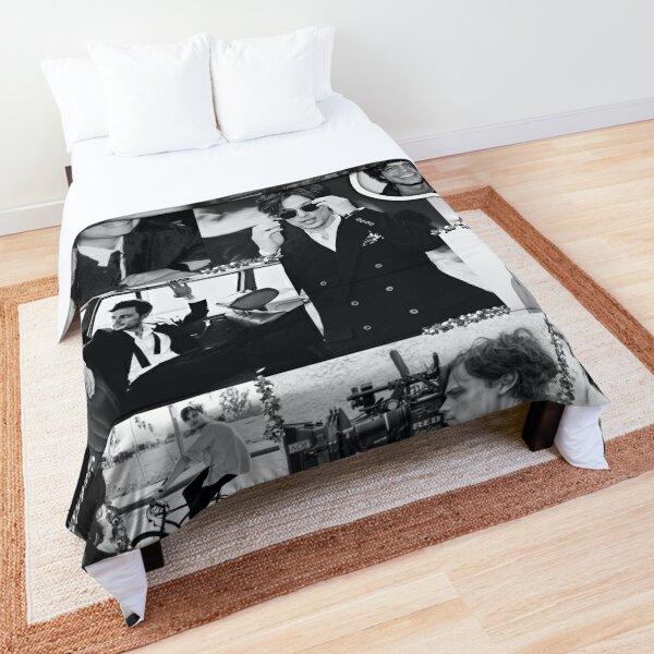 Matthew Gray Gubler Collage b&w Comforter