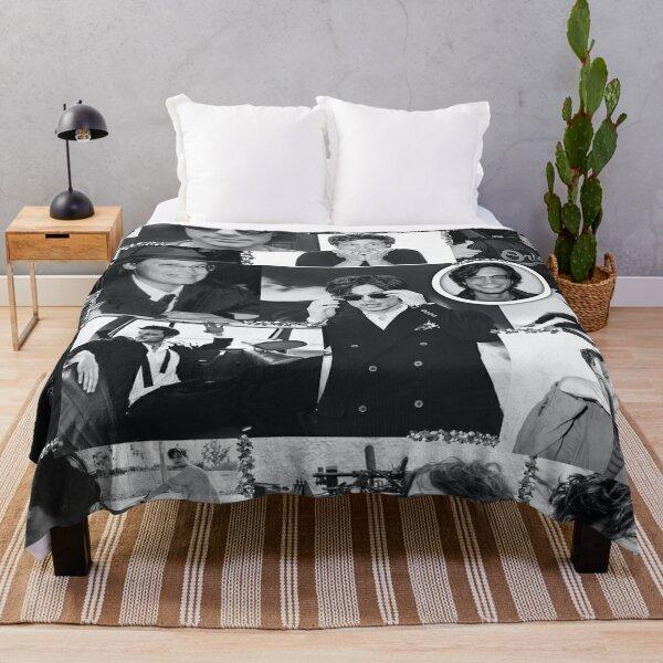 Matthew Gray Gubler Collage b&w Throw Blanket