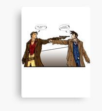 Captain Reynolds vs The Doctor Canvas Print