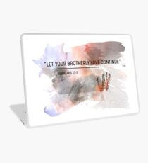 let your brotherly love continue  Laptop Skin