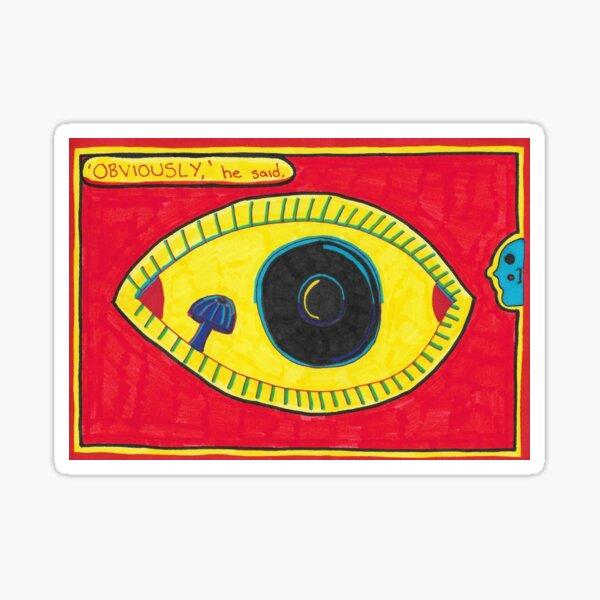 Obviously - Eye with Mushroom Sticker