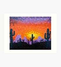 Sonoran Desert Sunset Art Print
