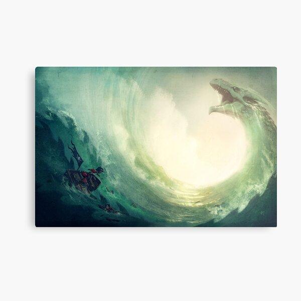 Sea is a Dragon Metal Print
