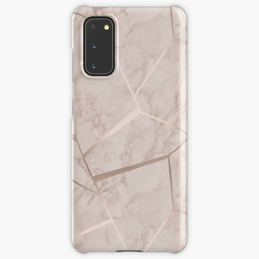 Factal Geometric Marble Wallpaper Rose Gold Design Phone Cases Skins And Cover Case Skin For Samsung Galaxy By Raziadlani Redbubble