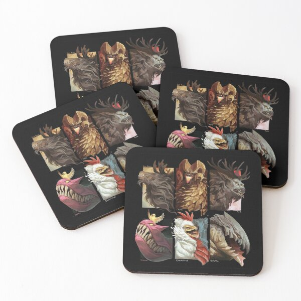 Chimeras and monsters Coasters (Set of 4)