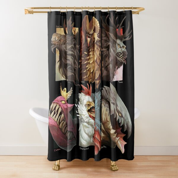 Chimeras and monsters Shower Curtain