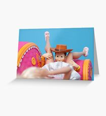 Woody Muff Diving Greeting Card