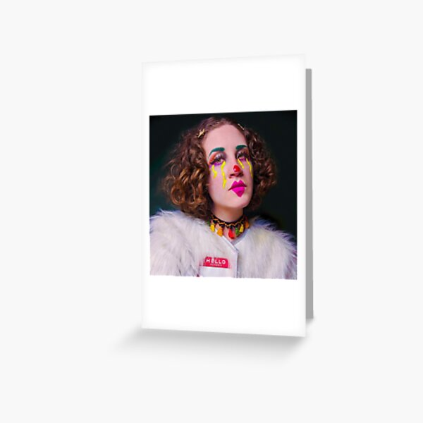 Clown Around, Self Portrait Greeting Card