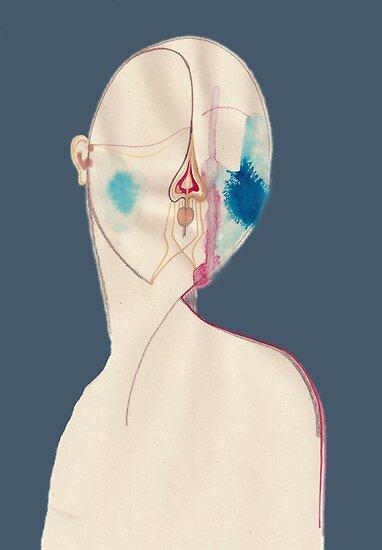 half - self - portrait by BeateKepmersh