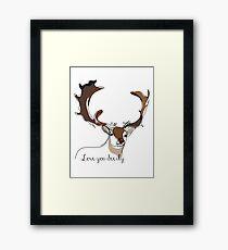 Love you deerly Framed Print