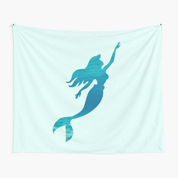 Mermaid Silhouette Tapestry