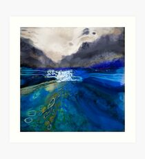 abstract landscape - the lake district  Art Print