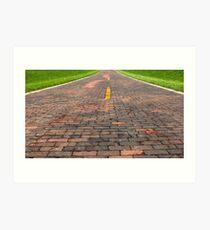 """Auburn Brick Road, a.k.a. """"Brick 66"""", Auburn, IL Art Print"""