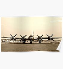 B-29 Bomber Plane - Classic Aircraft Poster