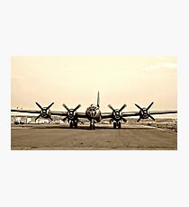B-29 Bomber Plane - Classic Aircraft Photographic Print
