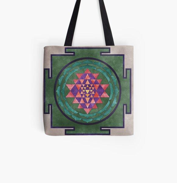 Sri Yantra 03 All Over Print Tote Bag