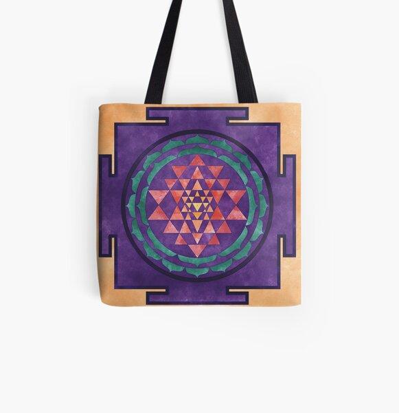 Sri Yantra 02 All Over Print Tote Bag