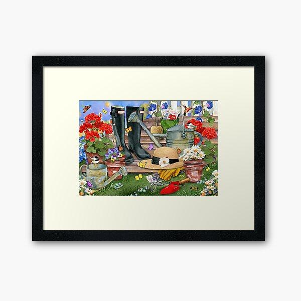 Summer Gardening Framed Art Print