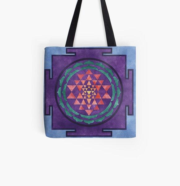 Sri Yantra 01 All Over Print Tote Bag