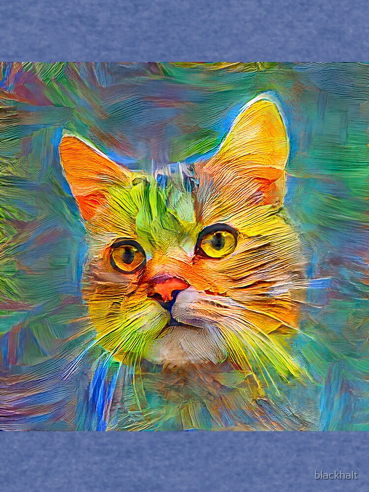 Abstract cat digital painting by blackhalt