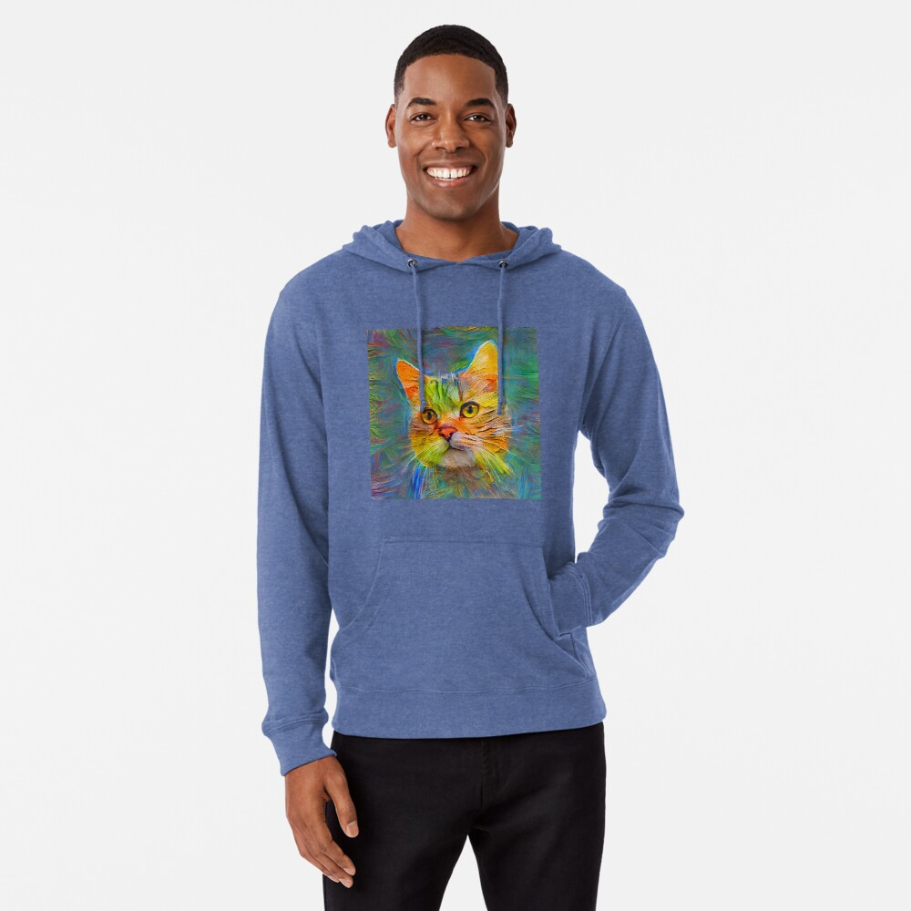 Abstract cat digital painting Lightweight Hoodie