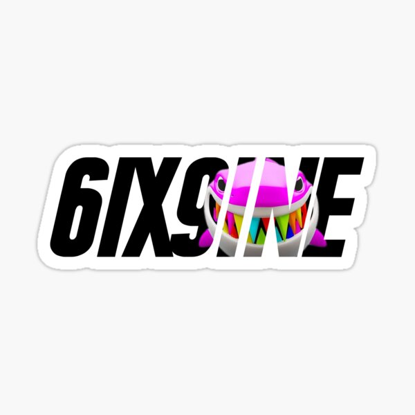 6ix9ine shark tekashi 69 trollz gooba punani design Sticker