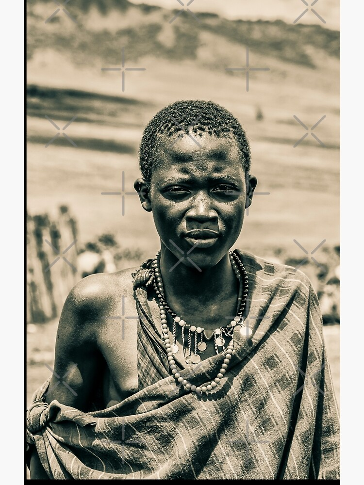 Africa Safari Adventures 4300 Portrait of Young Maasai Tanzania East Africa by neptuneimages
