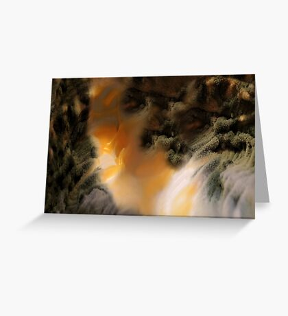 Amber river Greeting Card