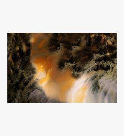 Amber river Photographic Print