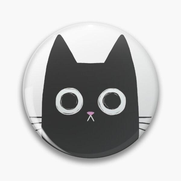 Staring Black Cat Pin